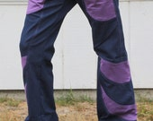 Blue and Purple jeans Rockstar Flare fitted stretch low rise