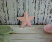 Dollhouse Miniature Shabby Chic Vintage Style Shabby Pink Marine Metal Star for Wall