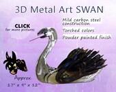 Metal Art Swan, Swan Garden Art, Steel Swan by Brown-Donkey Designs