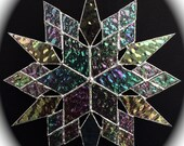 stained glass snowflake suncatcher (design 19)