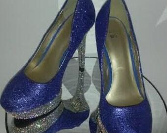 Blue Bling Heels