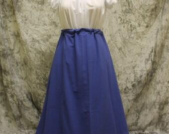 Blue Renaissance Costume-Halloween Costume-Medieval Skirt-LARP-Ren Fair-Steampunk-SCA-Adult Costume-Fantasy Skirt-Item #162