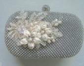 Ivory Bridal Clutch, Evening Clutch, Mother of the Bride Gift, Box Purse.