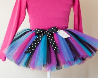 Purple, Blue, Pink & Black Demi tutu kids tutu sizes 2 3 4 photo prop birthday tutu 2T 3T 4T toddler tutu dress up skirt