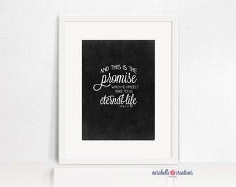 PRINTABLE CHALKBOARD ART -- Easter Promise Digital Download -- Mirabelle Creations