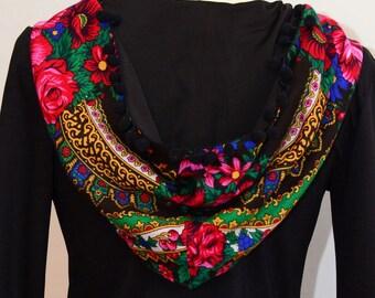 Hooded Dress , Urban Dress , Folk hooded Dress , Bohemian Dress , Ethnic detail Dress , Boho Dress , Custom made dress