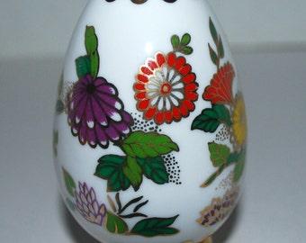 Franklin Mint  porcelain egg   with stand Satsuma egg decorative egg