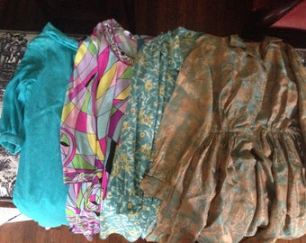 4 Vintage Dresses, Need Work