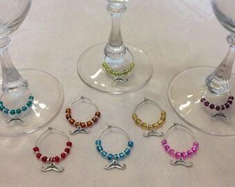 Mustache Wine Glass Charms