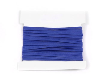 Elastic, 1/8th inch flat elastic for DIY Making Baby Headbands, skinny elastic - 5, 10, or 20 yard bundles - BLUE