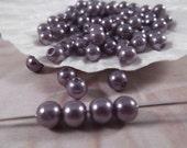 6mm --- Gunmetal Color Faux Loose Pearls --- 150 pieces