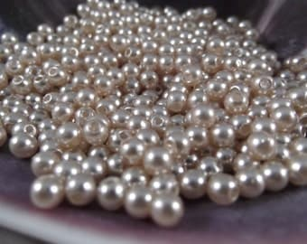 4mm --- Champagne Faux Loose Pearls --- 250 pieces