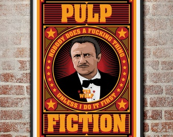 Pulp Fiction: The Wolf Winston Wolfe Movie Poster
