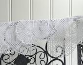 Three small delicate doilies, vintage Swedish handmade crochet, white doily set
