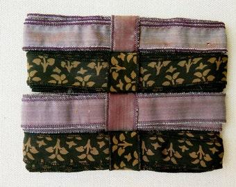 Silk Sari Ribbon, Silk Trim, 4 colors,  K115