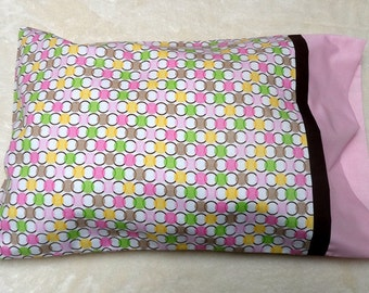 Pink Dotted Travel Size Pillowcase