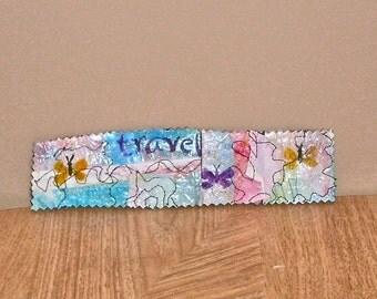 butterfly mixed media art  bookmark