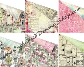 "Prima GARDEN FABLE 12"" x 12"" Custom Paper Collection - 12 piece  cardstock collection"