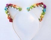 Kitty Ears: rainbow pride
