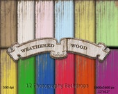 Digital WOOD BACKDROPS Weathered Wood Background Paper Printable Worn Woodgrain Texture for Photographer Chroma Key Instant Download BK8