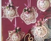 Crochet Pattern Book, Rosebud Ornaments Pattern, Annie's Attic 8B080, thread crochet