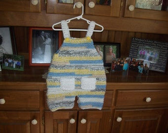Toddler,Overalls,Crocheted,Multi Color,Blue,Yellow,Gray,White,Gift,Dungarees,Boy,Boys,Photos,Pockets,Clothing
