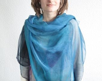 Spring Rain Silk Scarf