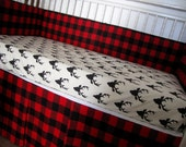 Crib Bedding Buck Forest Antlers Lolas Lovies handmade baby bedding