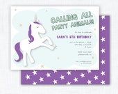Unicorn Party Invitation Printable