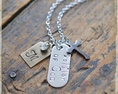 Solidier of God Personalized Necklace, Christian Gift, Gift for Missionary, Inspirational, gift for her