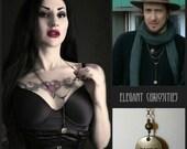 Karma rosary,necklace, As seen worn by lead singer of Kensington * Elegant Curiosities *
