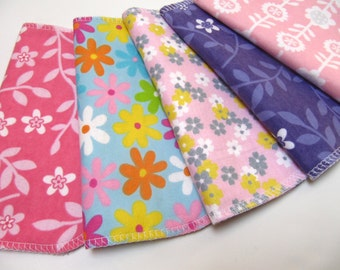 Cloth Napkins, 5 Girls Flower Napkins, Lunchbox Napkin, Children's Eco-Friendly Napkins, Back To School Waste Free Lunch Options