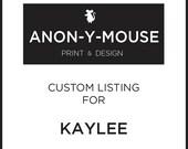 Custom Listing for Kaylee
