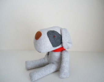 Sock dog **smokey gray patchy** Sock animal,Sock plushie,Plush toy