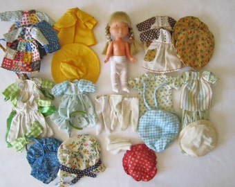 """Holly Hobbie Doll, Clothes & Accessories ~ Vintage 6"""" Holly Hobbie Doll  ~ Holly Hobbie Doll Clothes ~ Hollie Hobby accessories"""