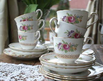 New chelsea Vintage china tea cup trio