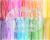 Watercolor Textures, Transparent Watercolor Textures, Photoshop Textures, Digital Textures, Rainbow Watercolor Textures, Rainbow Textures