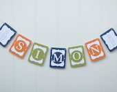 Robot Personalized Party Banner - Baby Shower, Birthday
