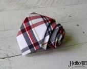 Navy and Red Plaid Necktie~Cotton Necktie~Anniversary Gift~Wedding Tie~Mens Necktie~Cotton Tie~Mens Tie~Boys Necktie~Boys Tie~Red White Blue