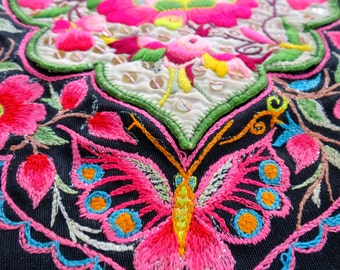 Vintage  Fabric, handmade, tapestry textiles, hill tribal fabrics-from thailand
