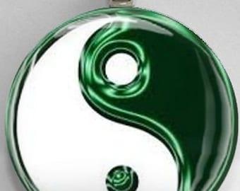 Interchangelable Magnetic Yin Yang #24 Pendant Necklace Handmade