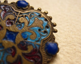 French Enameled Brooch