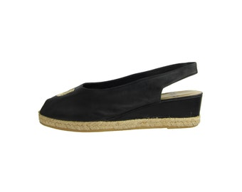 SALE % CHARLES JOURDAN  Leather Wedges Sandals