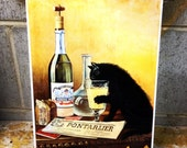 Reserved for B Cat home decor Wall Tile Absinthe Cat
