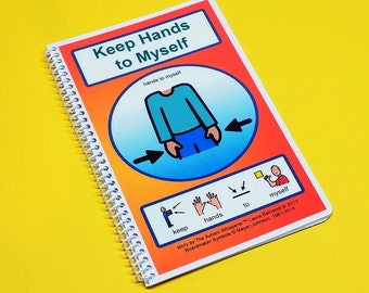 Keep Hands to Myself - Autism Social Skills Story - PECS - self control - Visual and Social Therapy Book