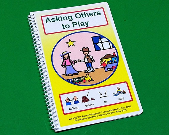 Asking Others to Play - Autism Social Skills Story - PECS - Preschool thru Elementary