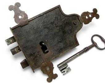 Padlock, Antique Padlock, French Padlock, Padlock and Key, Old Padlock and Key,