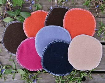100% merino wool sandy color nursing pads/ breastfeeding pads one pair (2 pieces) 10-13cm (3.9-5.1 inches) two layers, very soft and pure