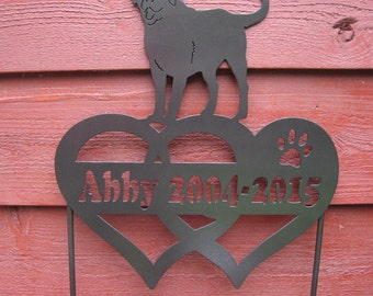 Pet Memorial Garden Stake Any Dog Breed Or Cat