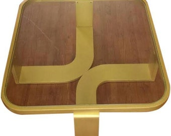 Art Deco style gold coffee table